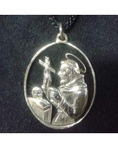 Medalla antigua calada de San Francisco de Asis