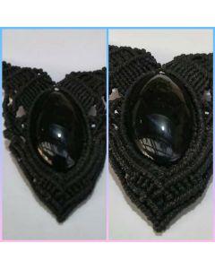 Collar con piedra Obsidiana